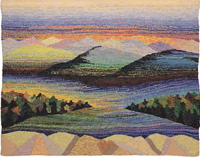 A photo of the community tapestry - Two Rivers� 5' x 6'�� 2000
